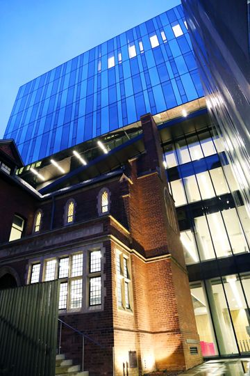 The new Rotman building in the evening