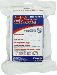 ER Emergency Ration 2400+ Calorie, 5-Year Emergency Food Bar for Survival Kits and Disaster Preparedness