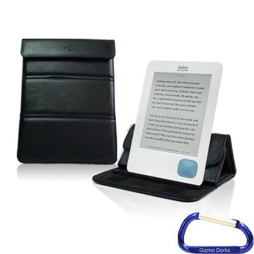 Gizmo Dorks Leather Wrapper Case / Stand (Black) with Carabiner Key Chain for the Kobo eReader by Gizmo Dorks. $12.99. The high quality stitched leather case is a durable for your tablet e-book reader. The foldable compartments turns your case into a stand for vertical or horizontal viewing of your device.