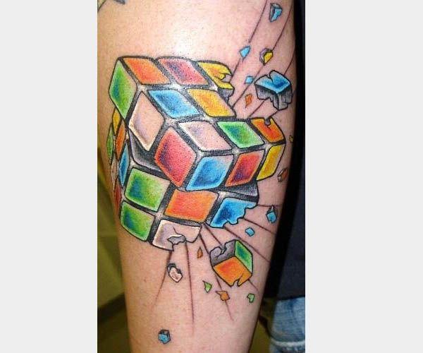 rubics cube tattoo i 39 d get this before i got someone 39 s name i love it random shit. Black Bedroom Furniture Sets. Home Design Ideas