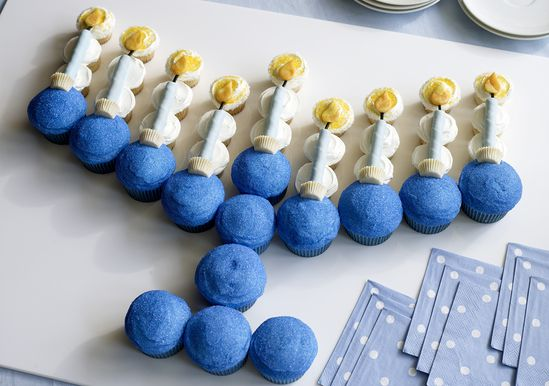 Menorah Cupcakes