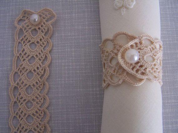 crochet napkin rings by mehves1979 on Etsy