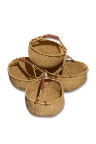 Groser-Bolga-Afrika-Ghana-Rund-Korb-Einkaufskorb-Fair-Trade-Basket-Natur-Ghana