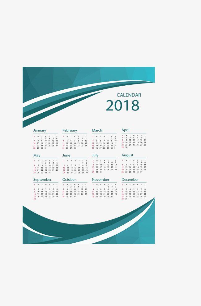 Dark Green Abstract Border Calendar Vector Material
