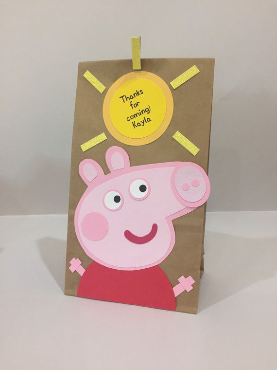 Peppa Pig party bags peppa pig party peppa pig by Craftophologie
