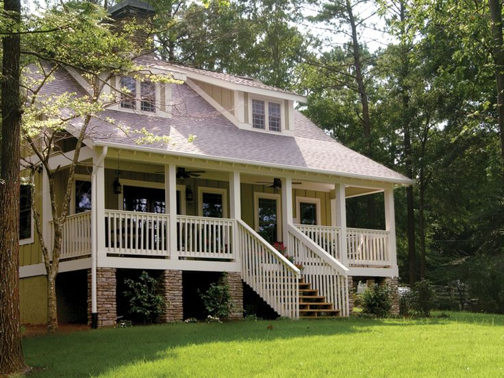 25 best covered front porches ideas on pinterest big for Low country bungalow house plans