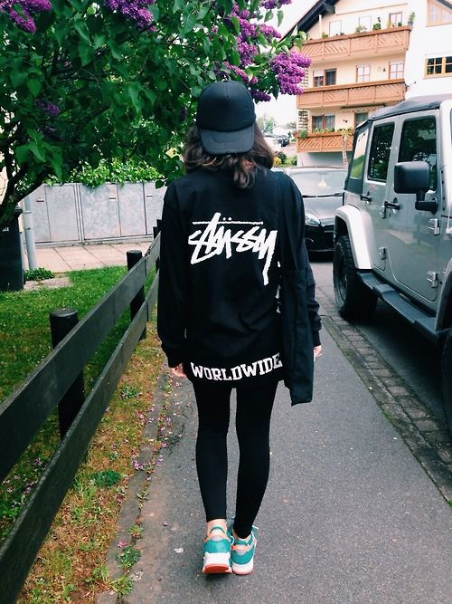 Stussy Worldwide.  Long live bitches in oversize hoodies.  It's the hottest thing ever, period!