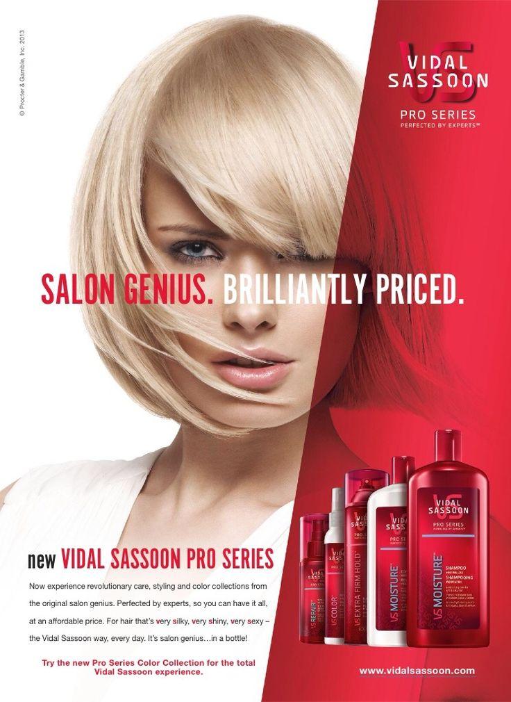 Vidal Sassoon Pro Series Advertising