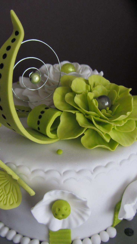 Gâteau pâte à sucre fleur Juin 2014