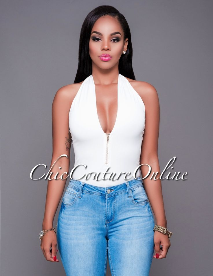 Chic Couture Online - Morena Off-White Zipper Accent Halter Bodysuit.(http://www.chiccoutureonline.com/morena-off-white-zipper-accent-halter-bodysuit/)