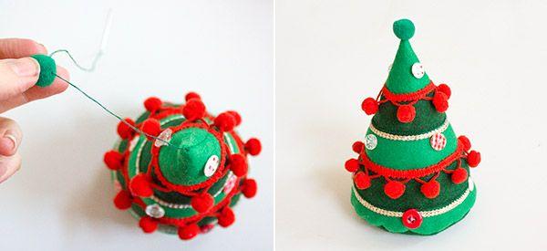 weihnachtsmann und weihnachtsbaum aus filz diy n hen. Black Bedroom Furniture Sets. Home Design Ideas