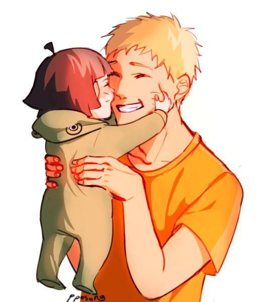 naruto dad and baby Himawari