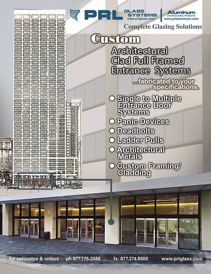 High Quality PRL Glass Systems Manufactures Elegant Stainless Steel Or Brass Clad Full  Framed Entrance Door Systems As