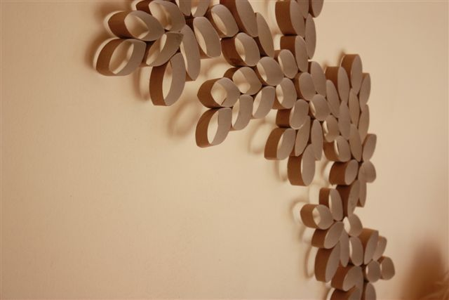 This is where the idea for the leaf art on the living room wall came from