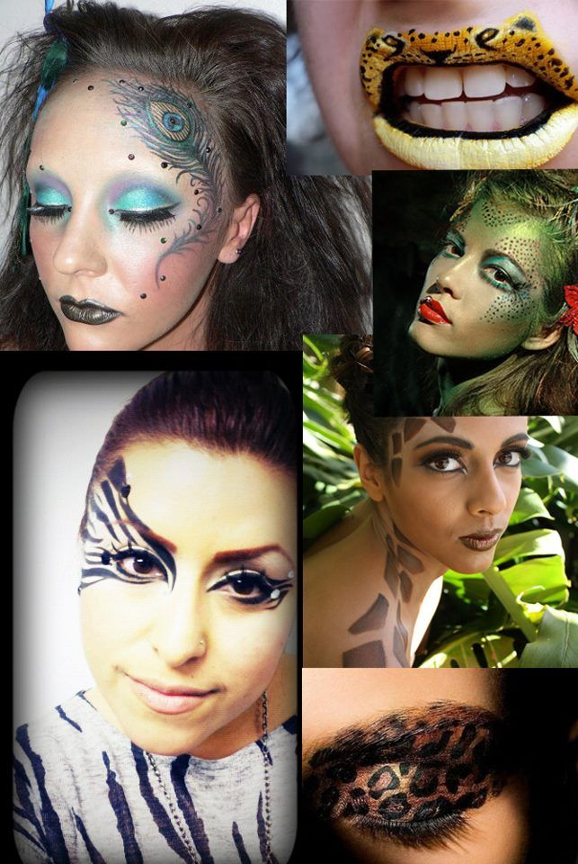Image result for animal makeup collage