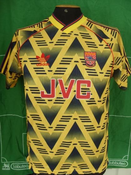 "The famous ""bruised banana"" Arsenal kit"