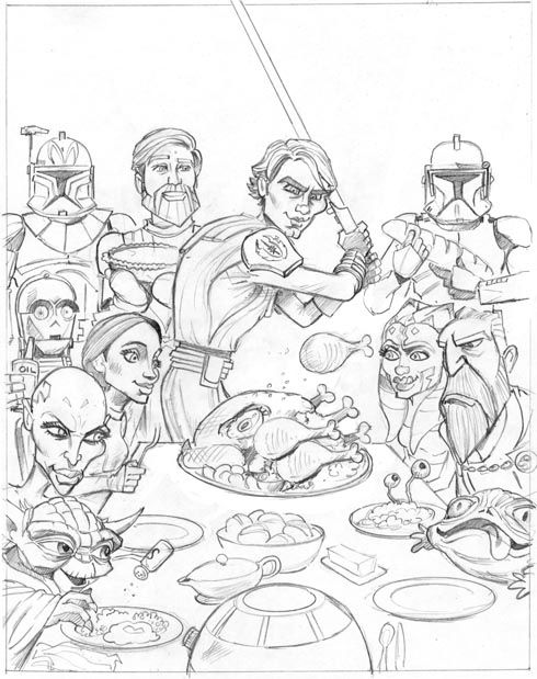 coloring pages star wars the clone wars - Starwars Coloring Pages Printable