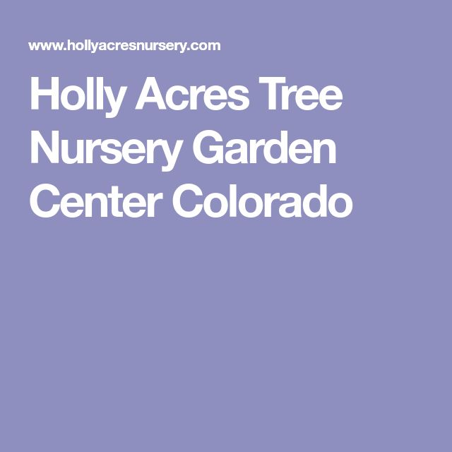 Holly Acres Tree Nursery Garden Center Colorado