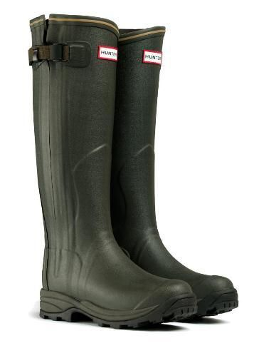 Hunter Balmoral Lady leather Wellington boots – dark olive