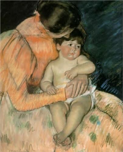 Mother and Child - Mary Cassatt: Mothers And Child, Child Mary, Art Mary, 1890S Gicl, Fine Art, Mary Cassatt, Gicl Prints, Child Art, Art Children
