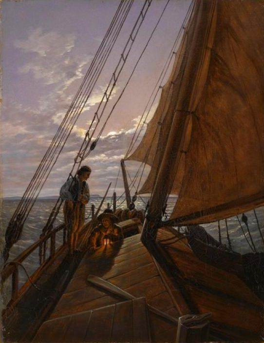 The Athenaeum - Boatmen on the Hoher See (Carl Gustav Carus - )