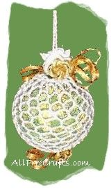 Make a pretty crocheted hanger for a clear plastic ventilated potpourri ball as a fragrant ornament for the Christmas tree.