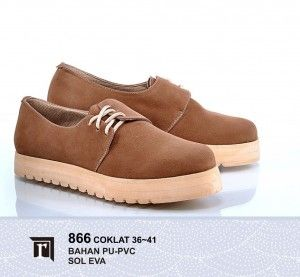 Jual Sepatu Boots Wanita Keren Warna Coklat Online Murah