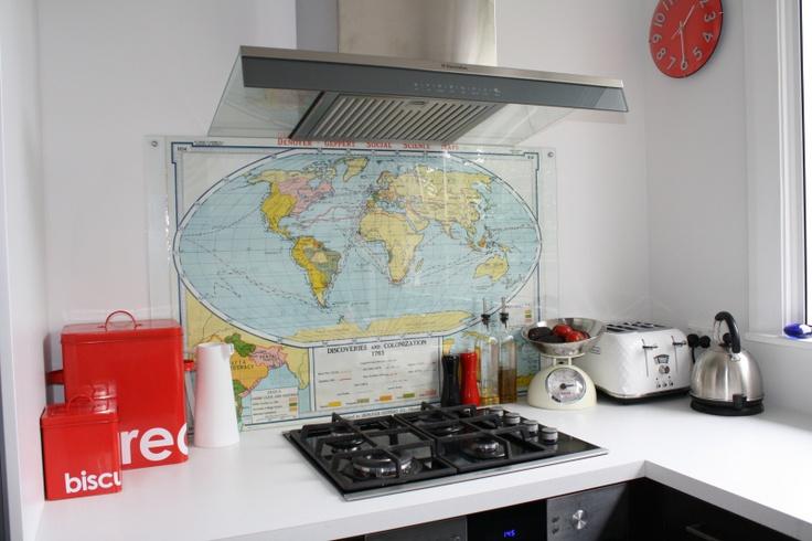 38 best images about glass splashback or backsplash on for Cheap kitchen splashback ideas