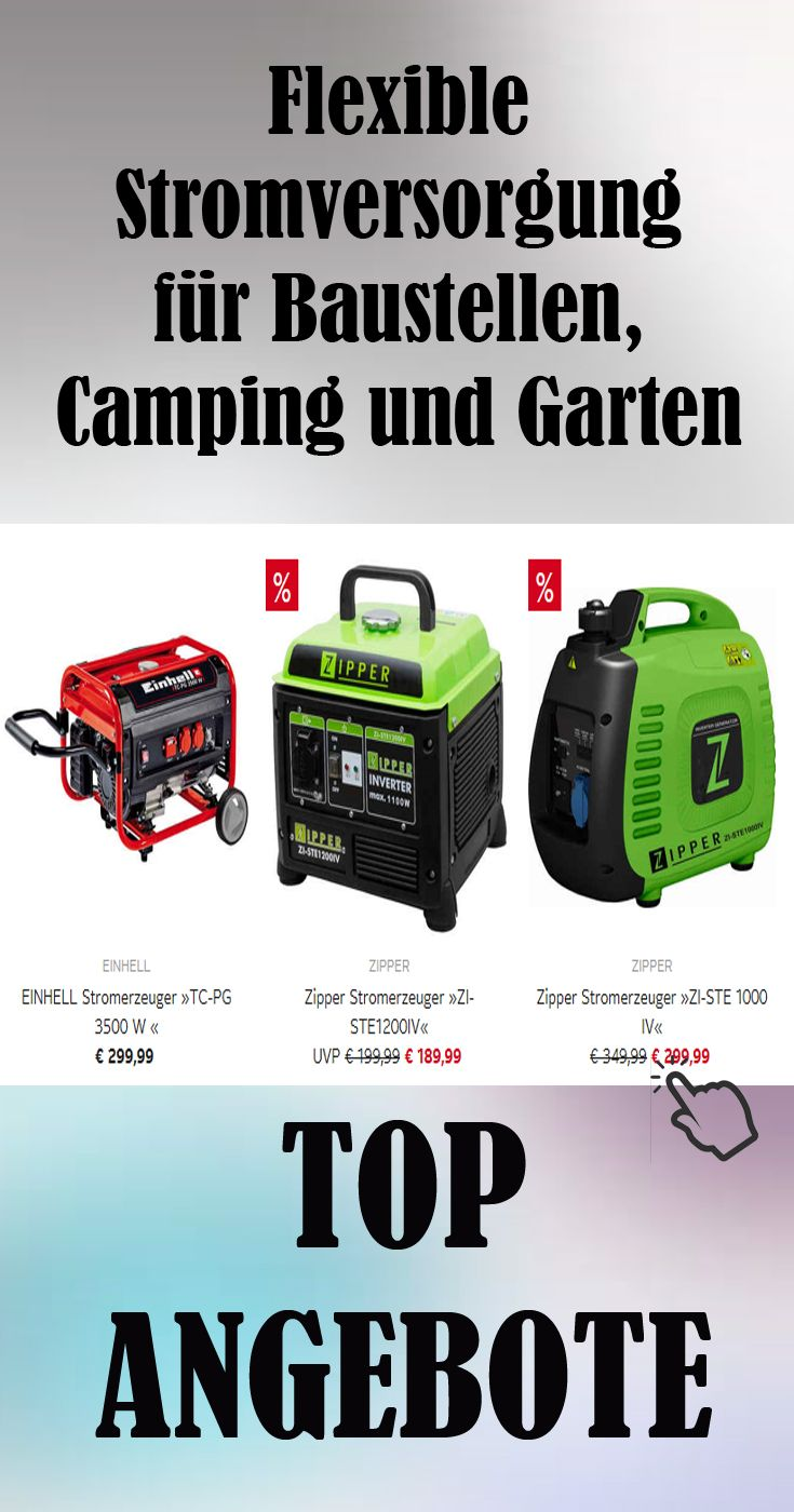 Flexible Stromversorgung Fur Baustellen Camping Und Garten Garten Wasserpumpe Camping