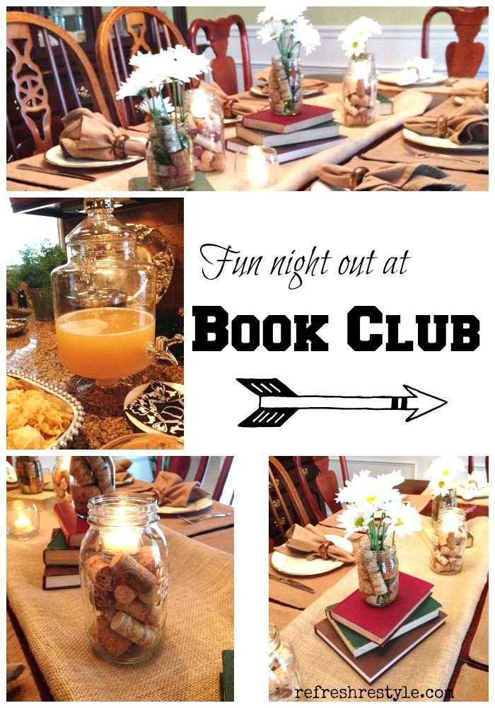 Book Club ideas for decorating and getting started!