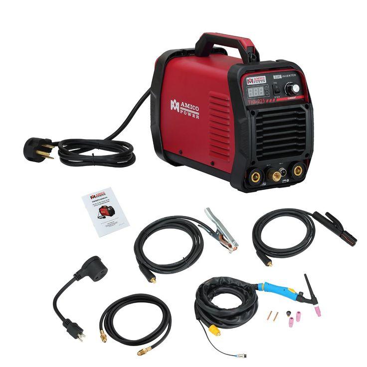Amico TIG-225 / 220 Amp HF TIG Torch/Stick/Arc Welder 115 & 230V Dual Voltage Welding Machine