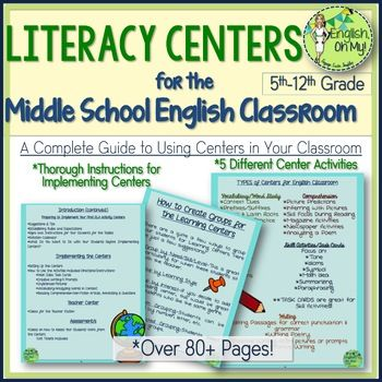 16 best vocabulary images on pinterest vocabulary instruction centers english literacy centers for the middle school classroom fandeluxe Choice Image
