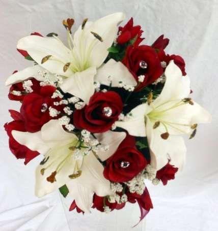 Best wedding bouquets red lillies Ideas