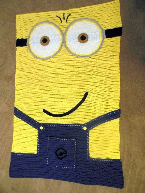 Crochet Pattern For Minion Blanket : 49 best images about Minion crochet on Pinterest Minion ...