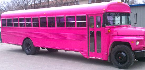 pink party bus: Daughter, Bus Shewolf, School Buses, Hot Pink, Colour Pink, Bus Rental, Pink Bus
