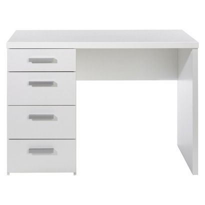 target tvilum desk with 4 drawers apartment pinterest desk rh pinterest com desks with drawers for sale desks with drawers on one side