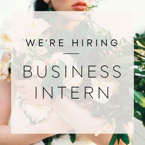 We're Hiring a Business Intern!