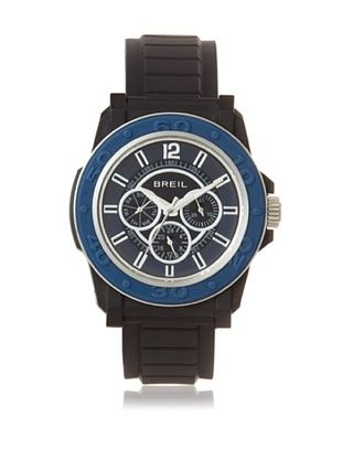 67% OFF Breil Men's BREILM-TW0842 Black/Blue Rubber Watch