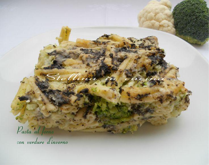 Pasta al forno con verdure d'inverno