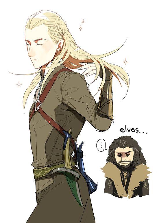 Elves are fabulous #LordOfTheRings #TheHobbit #Legolas #Thorin