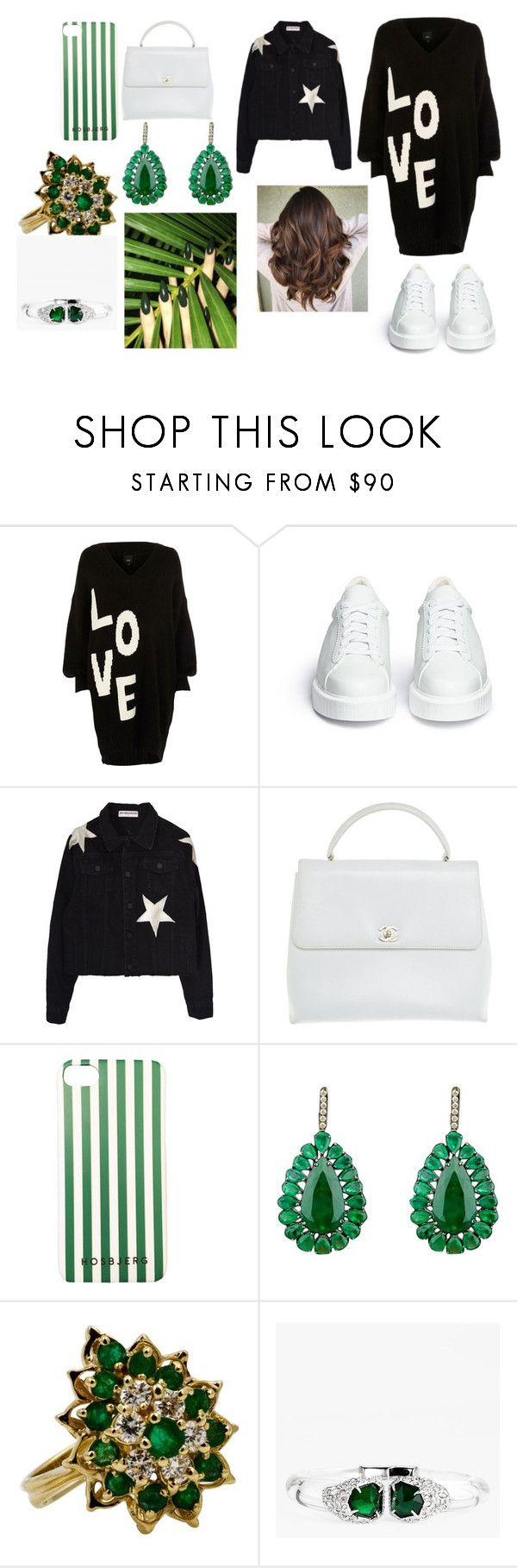 """""""Sans titre #2330"""" by heartss-13 ❤ liked on Polyvore featuring River Island, Robert Clergerie, Chanel and Alexis Bittar"""
