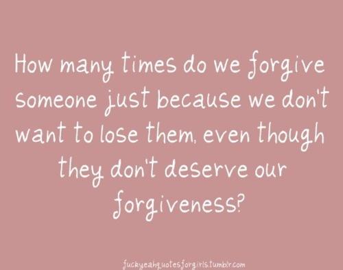 EVERYBODY DESERVES FORGIVENESS fis