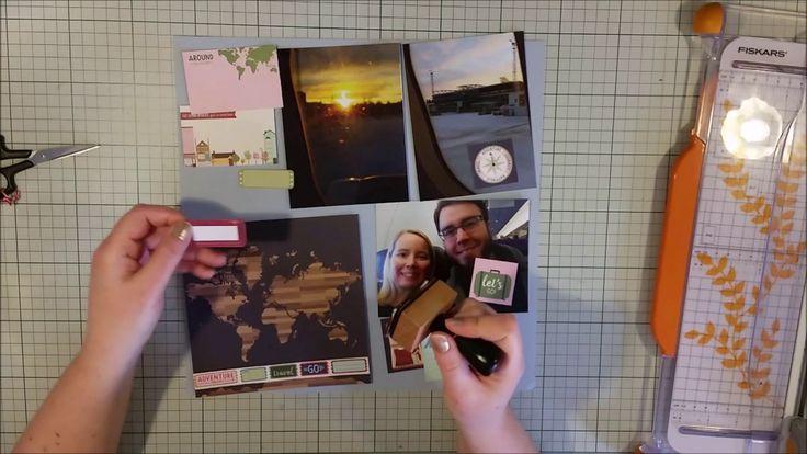 #361 Up & Away - Scrapbook Process