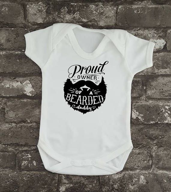 Hipster Baby Grow Bearded Daddy Bodysuit Father's Day