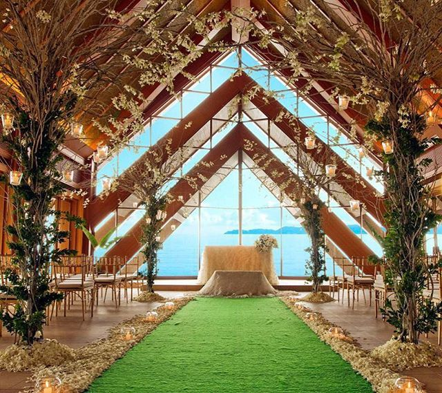 Planning A Beach Wedding Shangrilamactan Cebu Philippines Offers An Ocean Pavilion Over White Powdery Sands O Garden In
