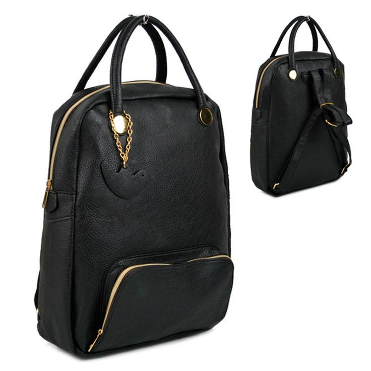 Ladies school backpack womens fashion Laptop Notebook bag purse L9384 Black  #Hottrend #BackpackStyle