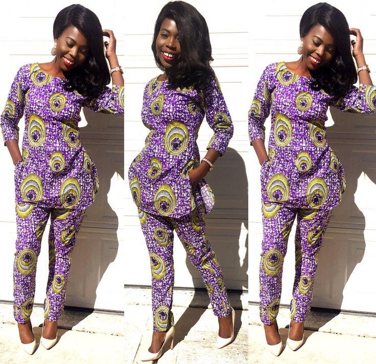 Ankara Top and pant Ankara Clothing African pant by Shoplolaster