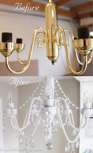DIY lámpara de araña casera                                                                                                                                                                                 Más