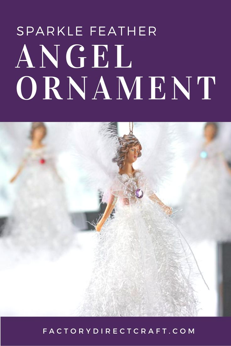 This Victorian Sparkle Feather Angel Ornament is the perfect beauteous angel for your elaborate tree.