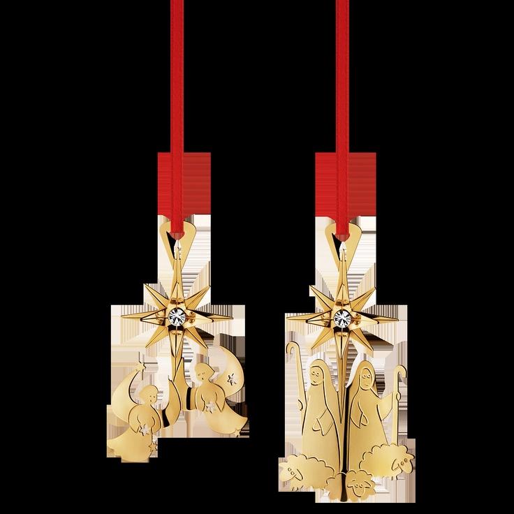 Georg Jensen Christmas ornament set: Choir of Angels and Shepherds